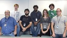 Back row, (L-R): Paul Sroufe, Prudhvi Surapaneni, Daniel Piers Front row, (L-R): Dr. Philip Sweany, Blake Eakin, Angel Fox, Matt Bisho