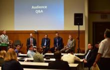 A picture of the panel discussion and Audience Q&A