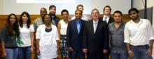 Dr. Dantu and his students with Congressman Michael Burgess